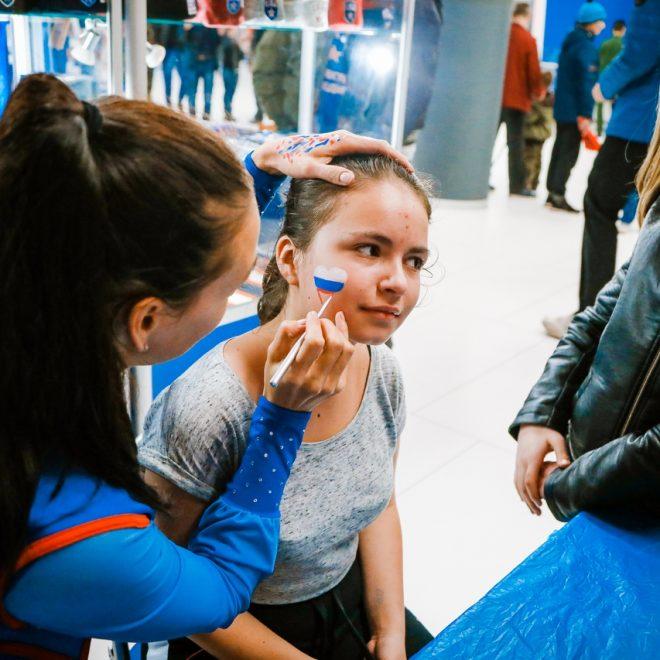 Предматчевые активности молодежки СКА